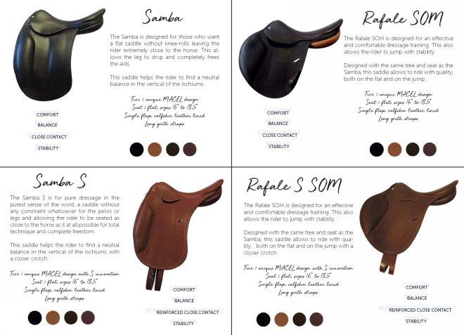 Macel Saddle selections